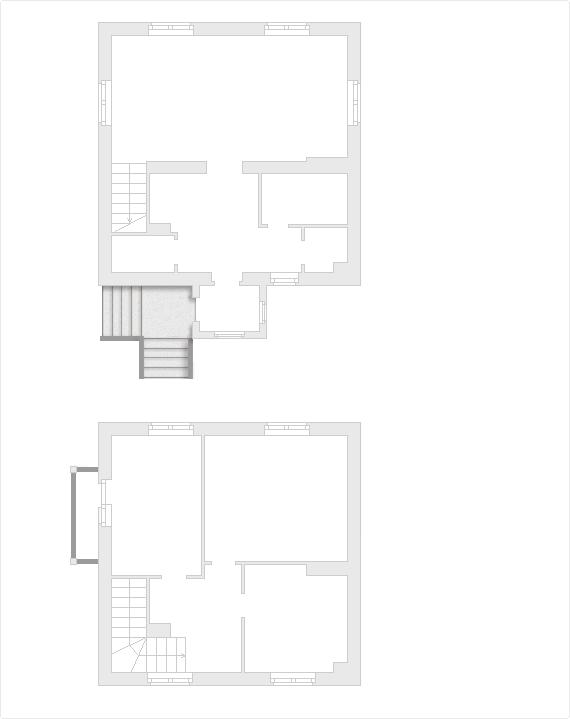 Планировка проекта двухэтажного дома 105 кв.м.