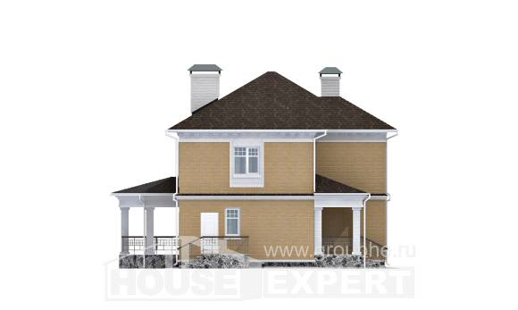 160-001-L Two Story House Plans, classic Ranch