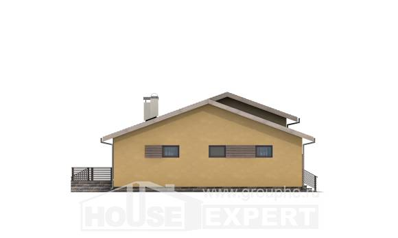 135-002-L One Story House Plans with garage in back, the budget Villa Plan