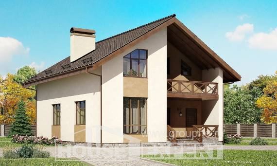 170-002-R Two Story House Plans with mansard roof, modern Online Floor
