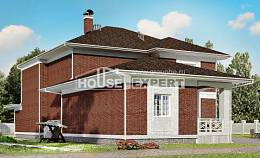 315-001-R Two Story House Plans with garage, big Building Plan