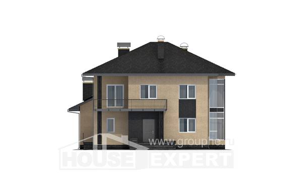 305-003-L Two Story House Plans, modern Cottages Plans
