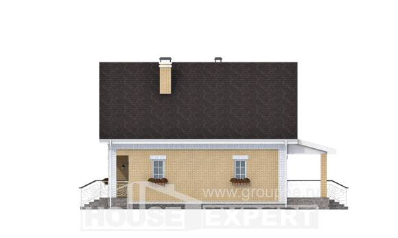 130-004-R Two Story House Plans with mansard roof, a simple Construction Plans