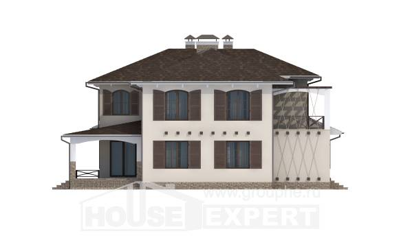 285-002-R Two Story House Plans and garage, spacious Home Plans