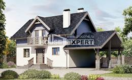 150-011-R Two Story House Plans with mansard roof and garage, classic Plans Free