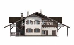320-001-R Two Story House Plans with mansard roof with garage under, luxury Home Plans