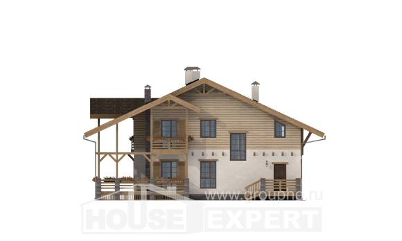 260-001-L Two Story House Plans with mansard roof, big Construction Plans
