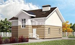 155-009-R Two Story House Plans with mansard, the budget Home House