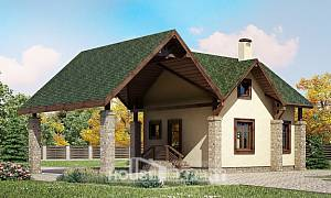 060-001-L Two Story House Plans with mansard with garage in front, cozy Dream Plan
