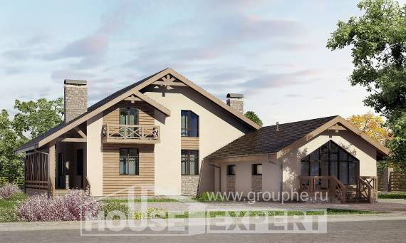 265-001-L Two Story House Plans with mansard roof with garage in back, beautiful Home Blueprints