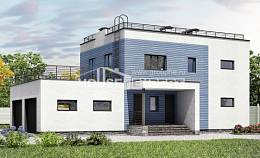 180-012-L Two Story House Plans with garage under, modern Custom Home Plans Online