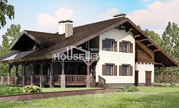 320-001-R Two Story House Plans and mansard with garage in front, beautiful Online Floor