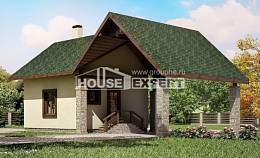 060-001-L Two Story House Plans with mansard roof and garage, cheap Planning And Design
