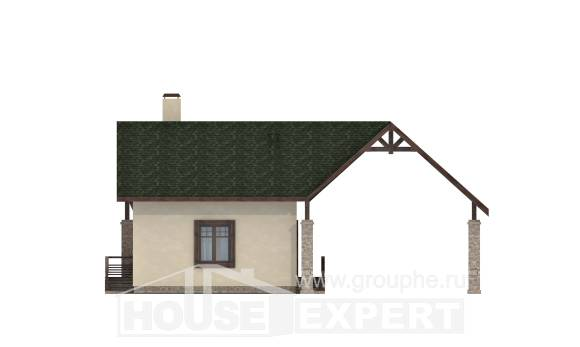 060-001-L Two Story House Plans with mansard roof with garage under, compact House Plans