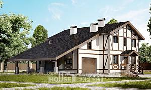 250-002-L Two Story House Plans with mansard roof with garage in back, beautiful House Building