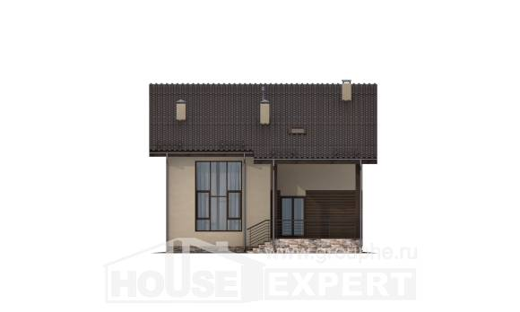 140-005-L Two Story House Plans with mansard roof, modern Cottages Plans