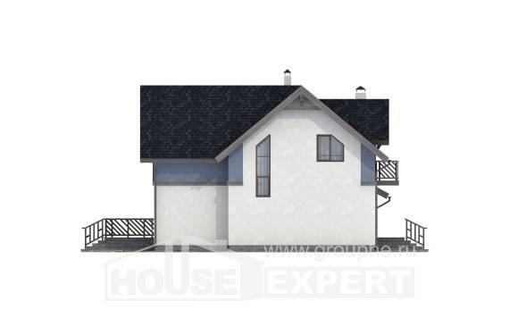 150-011-R Two Story House Plans with mansard and garage, small House Plan
