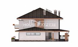 305-001-R Two Story House Plans with garage in back, classic Custom Home Plans Online
