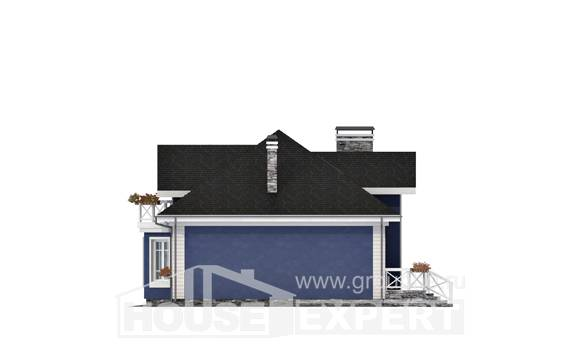 180-010-L Two Story House Plans with mansard and garage, a simple House Online