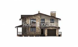 220-001-L Two Story House Plans with mansard roof and garage, beautiful Architectural Plans