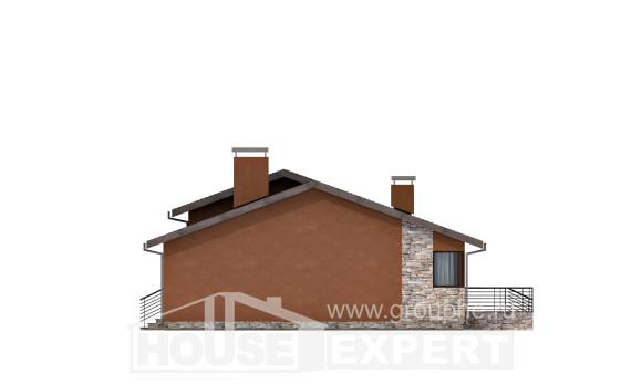 130-007-R One Story House Plans, modest Villa Plan