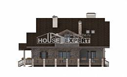 340-003-R Two Story House Plans with mansard and garage, luxury Home House