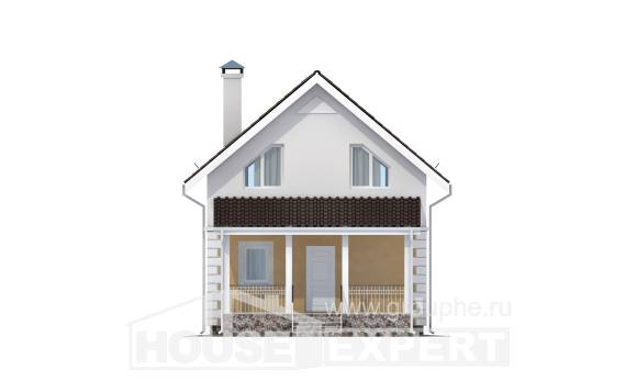 070-002-R Two Story House Plans and mansard, modest House Building