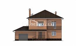245-003-L Two Story House Plans with garage, average Custom Home Plans Online