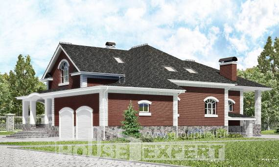 600-001-R Three Story House Plans with mansard roof with garage in back, spacious Floor Plan