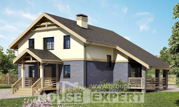 160-010-R Two Story House Plans and mansard, inexpensive Planning And Design