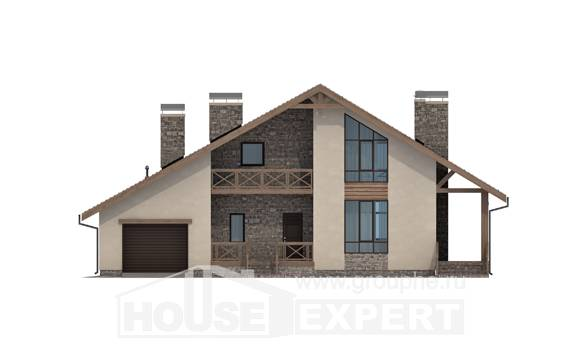 265-001-L Two Story House Plans with mansard roof and garage, best house House Online
