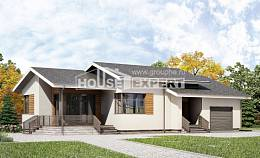135-002-R One Story House Plans with garage in front, compact Plan Online