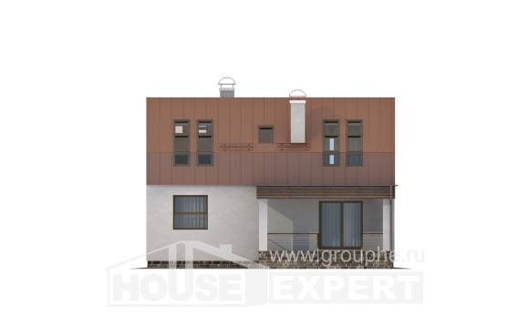 120-004-L Two Story House Plans and mansard, modest Design Blueprints