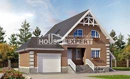 200-009-L Three Story House Plans with mansard roof with garage under, spacious Home Blueprints