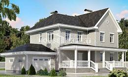 190-001-L Two Story House Plans with garage in front, a simple Tiny House Plans