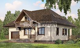 200-001-L Two Story House Plans with mansard roof and garage, beautiful Online Floor