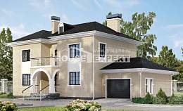180-006-R Two Story House Plans with garage in front, modern Cottages Plans
