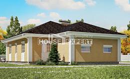 130-002-L One Story House Plans and garage, small Construction Plans