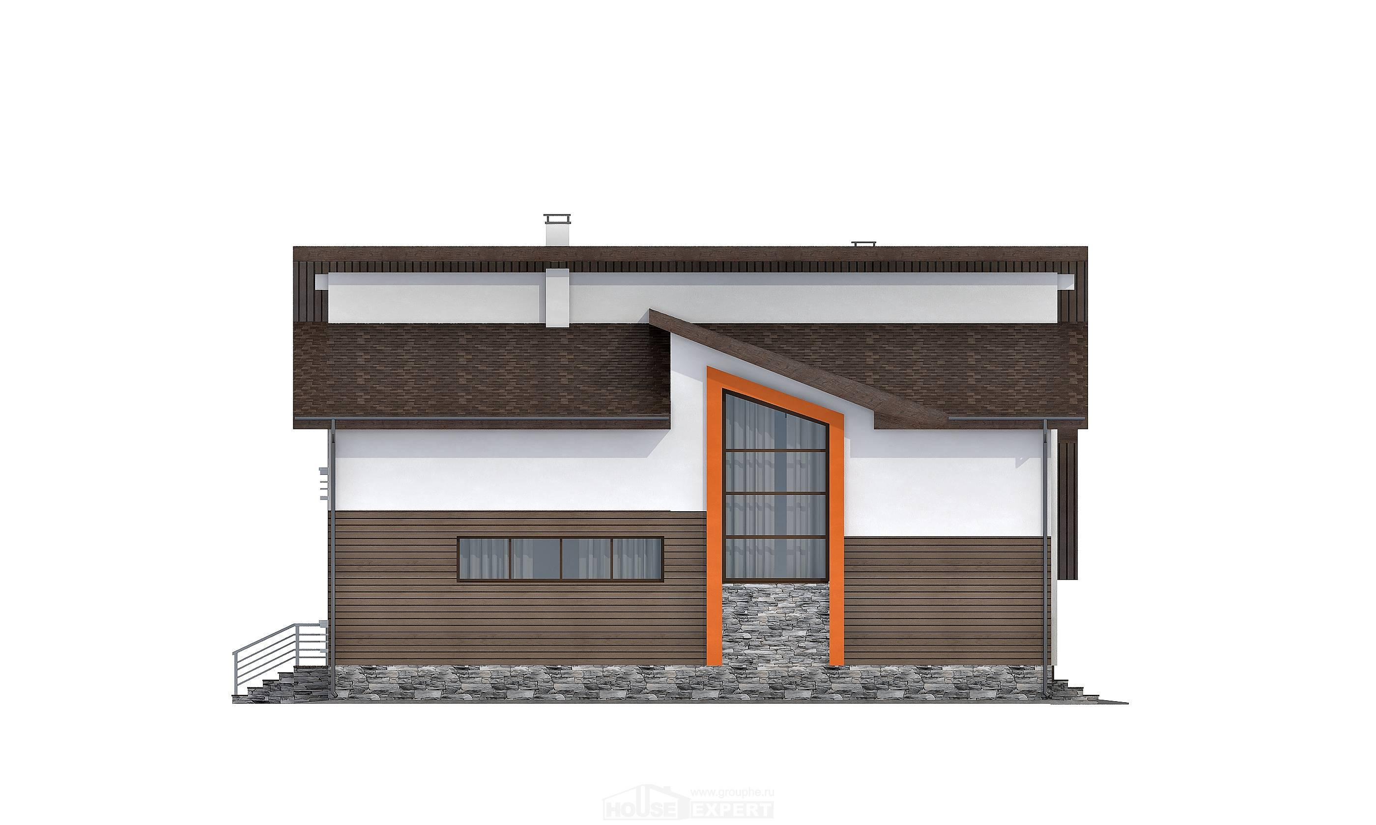 240-004-R Two Story House Plans with mansard with garage in back, luxury Dream Plan