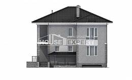 275-004-R Three Story House Plans with garage under, big Home House