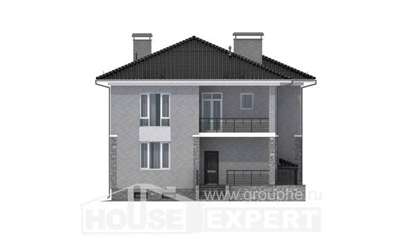 275-004-R Three Story House Plans with garage, modern Cottages Plans