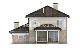 220-007-R Two Story House Plans with garage under, beautiful Tiny House Plans