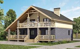 160-010-R Two Story House Plans with mansard, classic Home House