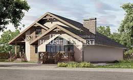 265-001-L Two Story House Plans with mansard roof with garage in back, a huge Blueprints of House Plans