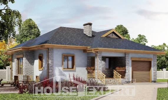 130-006-R One Story House Plans and garage, cozy Floor Plan
