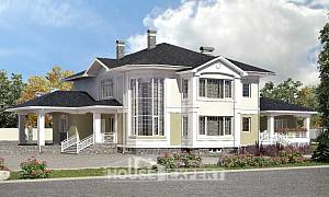 620-001-L Three Story House Plans with garage in back, classic Architectural Plans