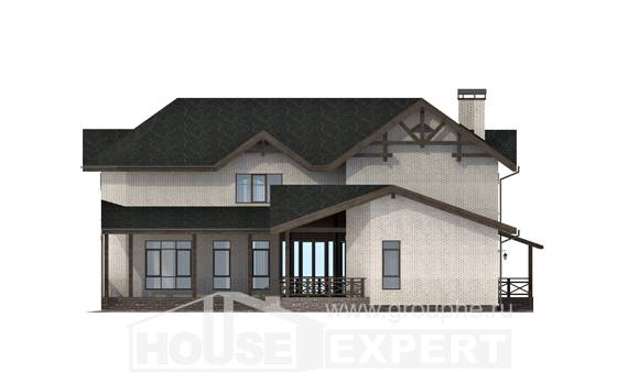340-004-L Two Story House Plans, modern House Blueprints