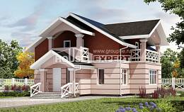 155-009-L Two Story House Plans with mansard roof, inexpensive House Online