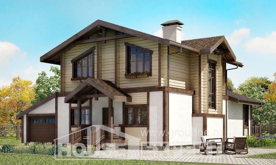190-004-R Two Story House Plans and mansard with garage in back, luxury Building Plan