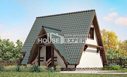070-003-R Two Story House Plans with mansard roof, a simple House Building
